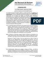 ALTO A LA PREPOTENCIA Y ABUSO DE PODER CONTRA LA UNIVERSIDAD PERUANA