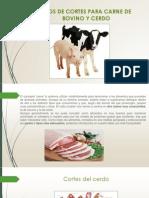 TIPOS DE CORTES PARA CARNE DE BOVINO Y.pptx