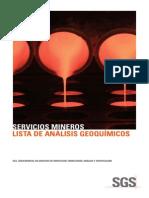 Servicios Geoquímicos -SGS Boletin