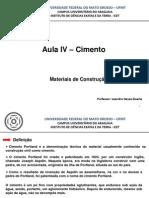 Aula IV - Cimento.pptx