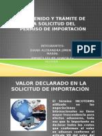 EXPOSICION COMERCIO EXTERIOR Contenido y trámite de la solicitud del permiso de importación.pptx