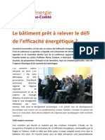 Le bâtiment en Franche-Comté prêt à relever le défi de l'efficacité énergétique ? article 25/11/2009
