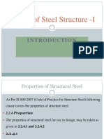 properties of structure steel as per limit state method IS 800:2007,mechanical properties of steel
