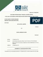 DIFC Judgment on GFHC vs David Haigh