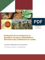 Evaluación de la resistencia en genotipos de papa a Phytophthora infestans