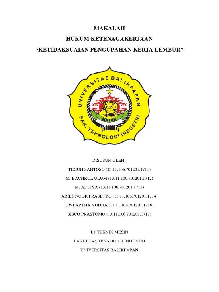 MAKALAH Hukum Ketenagakerjaan