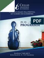 Festivalheft der Cello Akademie Rutesheim 2014