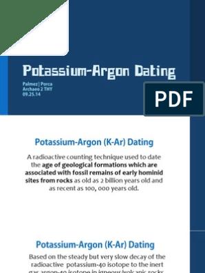 Hur kalium argon dating fungerar