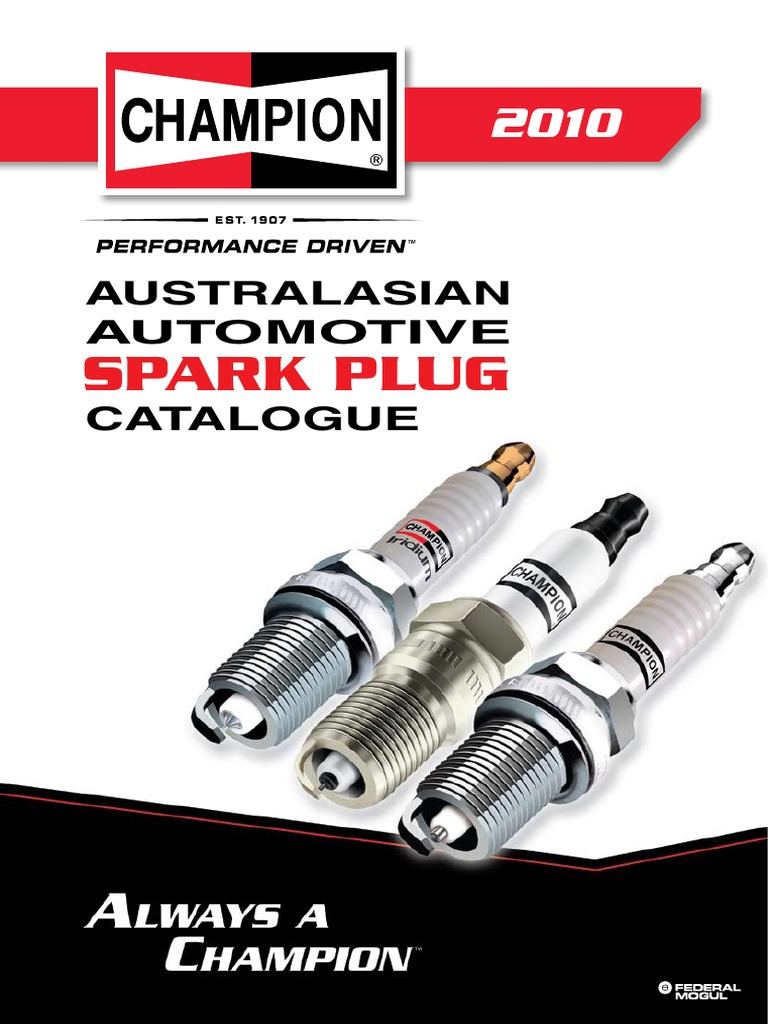 champion spark plugs catalogue 2010 v1s