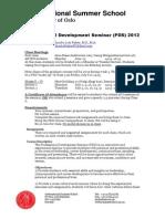 Professional Development Seminar (PDS) 2012