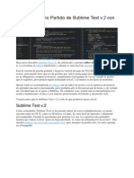 Saca el Máximo Partido de Sublime Text v.docx
