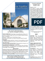 Santa Sophia Bulletin for October 05, 2014