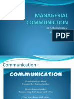 What is Managerial Communication