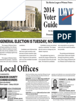 Marion League of Women Voters 2014 Voter Guide