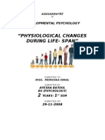 Physiological chanfes in body