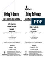 Dining to Donate Flyer (1)