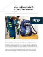 Flipkart Fights to Keep Lead Over Amazon