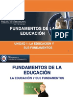 Material Docente Fundamentos de la Educación, La Educación y sus Fundamentos.pdf