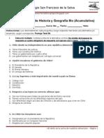 Segunda Prueba de Historia y Geografía 6to.doc