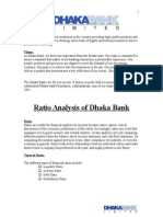 Ratio Analysis on Dhaka Bank