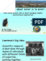 How we think about 'error' is 'in error