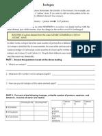 isotopesworksheet