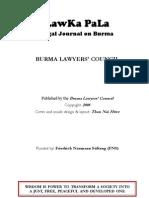 """LawKa PaLa - Legal Journal on Burma"" - No. 31 (December 2008)"