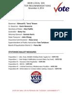 san joaquin calaveras county endorsements nov 2014