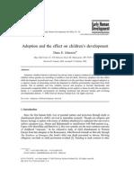 Adoption Effect on Childs Development