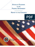 US Office of Personnel Management - 2009 Telework Report