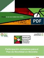 Participación ciudadana para el Plan de Movilidad en Bicicleta del Área Metropolitana de Monterrey