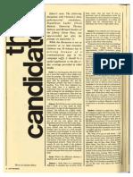 The Candidates | Chittenden Magazine | Oct. 1972