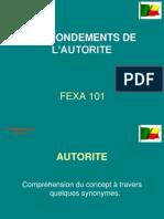 FEXA 101_Les fondements de l'autorité.ppt