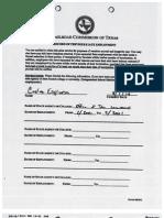 Carlos Espinosa TX RRC Personnel File