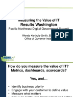 Pacific Northwest DGS presentation - Measuring the Value of IT - Wendy Korthuis-Smith