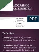 demographic characterisitics
