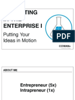 Innovating in the Enterprise I- Putting Your Ideas in Motion