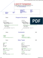 Java and C# Comparison