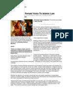 Bid to Bring Female Voice to Islamic Law