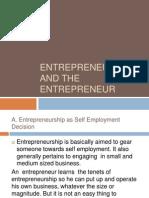 1.1Entrepreneurship and the Entrepreneur