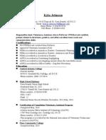 johnson kyla resume 2014