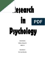 Psychology Motivation