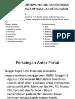 PERISTIWA-PERISTIWA POLITIK DAN EKONOMI INDONESIA PASCA PENGAKUAN KEDAULATAN.ppt