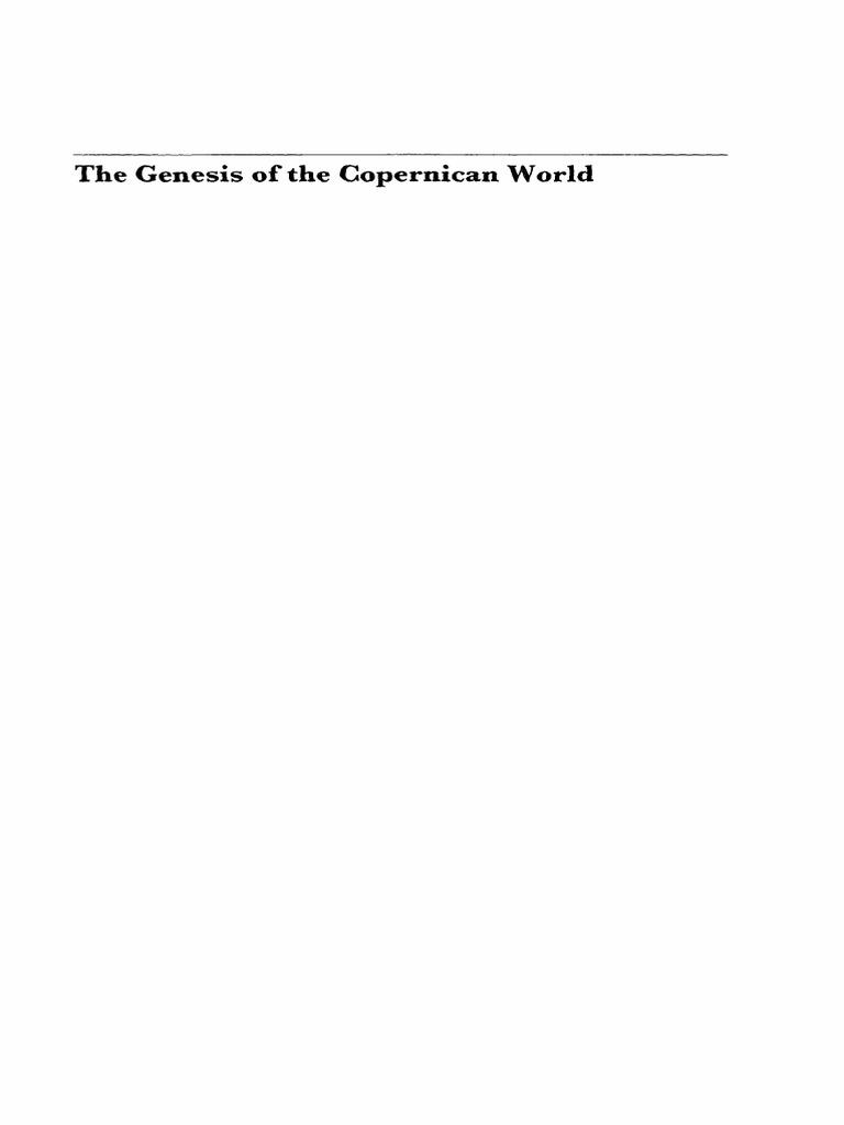 Blumenberg Hans The Genesis Of Copernican Worldpdf Reel Pioneer Primo Pri 5000 Nicolaus Copernicus Aristotle