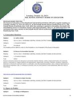 Riverhead School Board Agenda, Oct. 14, 2014