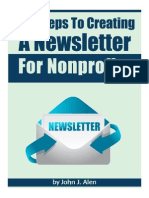 Ten Steps To Creating A Newsletter For Nonprofits.