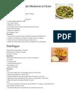 Broccoli and Shiitake Mushroom in Oyster Sauce