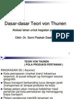 Dasar Teori Von Thunen
