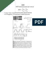 MTF • Generally Measure MTF Both Horizontal and Vertical I