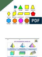 2d n 3d shapes